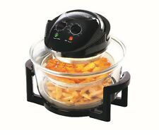 AMBIANO 12L 1300W 2 IN 1 AIR FRYER HALOGEN OVEN WITH EXTENDER IN BLACK - MT-A12B