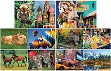 Jigsaw puzzle Multipack 12 assorted themes Landscapes Animals (=$4.99 each) NEW