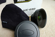 NIKON WC-E80 WIDE ANGLE CONVERTER LENS BOXED IN VERY GOOD LITTLE USED CONDITION