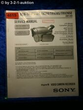 Sony Service Manual DCR TRV255E /TRV260 /TRV265 /TRV265E Digital Video(#4815)
