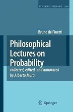 Philosophical Lectures on Probability 340 by Bruno De Finetti (2008, Hardcover)