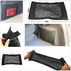 Portable Auto Rear Trunk Seat Back Storage Sundries Resilient Net Bag Magic Tape