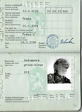 CZECHOSLOVAKIA:  TRAVEL DOCUMENT  (PRAGUE)  (# 4732) (1986)