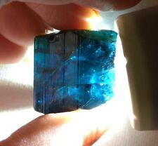 130 Ct~ Facet Quality Large Gem Indicolite Blue Tourmaline Crystal ~ Afghanistan