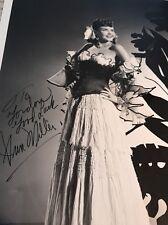 Ann Miller Autograph SIGNED 8x10 PHOTO PSA PSA/DNA COA