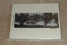 Volvo 440 Brochure 1990 - GL GLE GLT Turbo