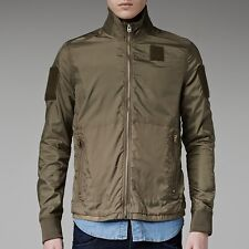 New Mens g star nylon wet look shiny green  bomber  Jacket - S/M