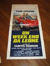 LOCANDINA,Un week-end da leone,Losin' It,1983, Tom Cruise,AUTO CAR SPIDER,RACE