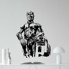 C-3PO R2-D2 Wall Decal Star Wars Droids Vinyl Sticker Kids Art Decor Mural 66crt