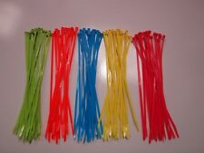 Fluorescent Cable Ties, 5  Colours Pink,Blue,Yellow,Orange,Green  300mm x 4.8mm