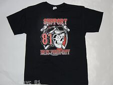 Support 81 Hells Angels New York City 81 Skull Black T Shirt LARGE  NEW