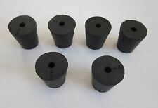NEW #3 tapered rubber stopper plug with one hole (lot of 6)