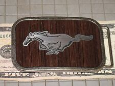 Collect Hot Buckles Ford Mustang Wood Grain Belt Truck Steel Auto 4x4 SUV Car GT