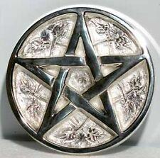 """3"""" Silver Plated Pentacle Incense Cone Sage Smudge BURNER Pentagram FREE SHIP"""