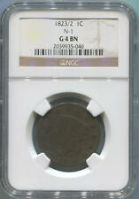 1823/2 Coronet Head Large Cent, NGC G4 Brown