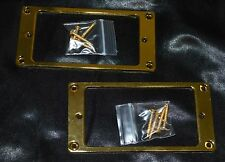 U.S. STOCK Pair Guitar Metal Humbucker Pickup Mounting Ring Flat Gold w/ Screws