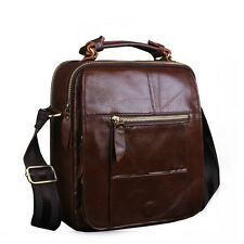 Vintage Leather Men Handbag Crossbody Shoulder Messenger Bag Casual Briefcase