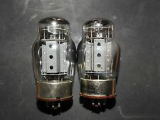 PAIR Tung-Sol 6550 / KT88 3-Hole Plate Vacuum Tube - Tests Good