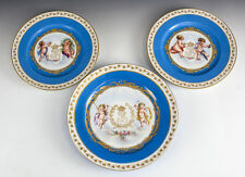 Sevres Chateau Des Tuileries Louis Philippe Cherubs Hand Painted Cabinet Plates