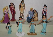 Disney Figure Lot ~ Pocahontas Princess Jasmine Mulan Tangled Mother Gothel, toy