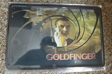 Goldfinger 007 Design Tin Metal Sign Painted Poster Comics Book Wall Office Home