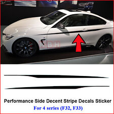 M Performance Side Door Stripes Decals Vinyl Sticker for BMW 4 Series F32 F33