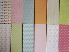 "Sample pack - Back to Basics Bright Spark 6x6"" scrapbook backing papers x 12"