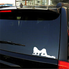 Reflective Car Stickers Beauty Sexy Angel and Devil White Waterproof Decal 19*8