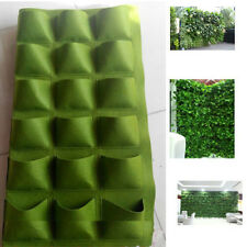 18 Pocket Vertical Greening Hanging Wall Garden Planting Bags Wall Planter New