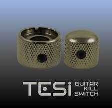 Tesi Premium Dual Concentric Guitar Knob Set - Volume, Tone - Cosmo Black