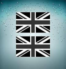 2x Sticker decal flag uk united kingdom english union jack black camo biker car