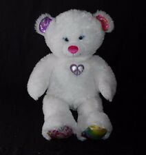 """16"""" BUILD A BEAR WHITE TWINKLE TOES TEDDY BEAR STUFFED ANIMAL PLUSH TOY LIGHT UP"""