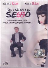 Tutti I Numeri del Sesso Dvd Sigillato Winona Riden Simon Baker