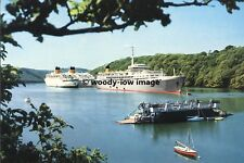 rp3912 - Shaw Savill Liner - Southern Cross laid up River Fal - photo 6x4