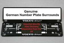 Volvo Sport Number Plate Surrounds  X 2  Pair