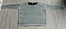Lilith Gray Cotton Oversized Boxy Lagenlook Cotton Sweater XL