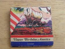 collectable match books      HAPPY BIRTHDAY AMERICA MATCHBOOK    SET M6
