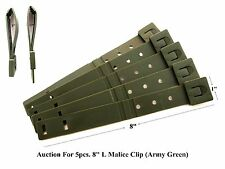 "5 Tactical Tailor-Short 8"" Army Green MALICE Clips For GERBER, BUCK Knife Pouch!"