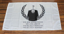New White We Are Anonymous Flag Occupy Anti Government Protest Anon Legion