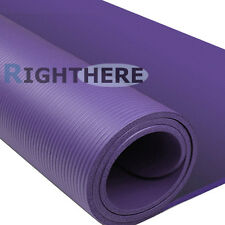 1CM THICK YOGA MAT PILATES FITNESS EXERCISE GYM 10MM THICKENED PURPLE