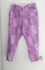 Nine West Womens Cigarette Fit Skinny Leg Wild Orchid Ankle Leg Pants Sz16W-NWT