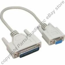Lot10 1ft short DB9pin Female~DB25 Male Straight RS232 Serial/Modem Cable/Cord