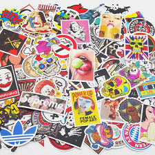 100 Pieces Skateboard Stickers Vintage Vinyl Laptop Luggage Decals Dope Sticker