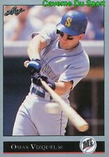 265   OMAR VIZQUEL    SEATTLE MARINERS  BASEBALL CARD LEAF 1992