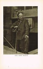 1910's Old Vintage Asian Chinese Shoe Maker Genthe Photo Gravure Print