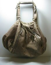 Diane von Furstenberg Women's Brown Leather Belle Draped Bag Large Purse