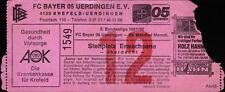 Ticket II. BL 81/82 Bayer 05 Uerdingen - SV Waldhof Mannheim
