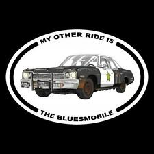 """MY OTHER RIDE IS THE BLUESMOBILE"" jake elwood DECAL mopar THE BLUES BROTHERS"