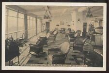Postcard ATLANTIC CITY New Jersey/NJ Colton Manor Sun Deck Wicker Furniture 30's
