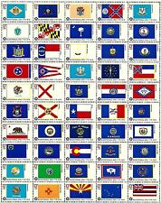 1976- BICENTENNIAL STATE FLAGS #1633-82 Full Mint Sheet of 50 Postage Stamps